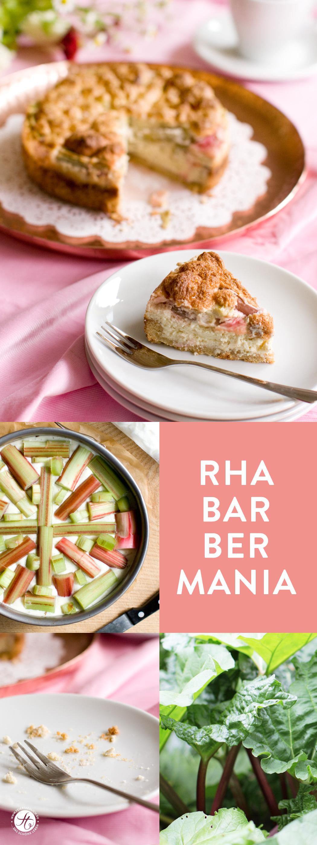 Rezept Rhabarber Kaesekuchen mit Baiser und Mürbeteigboden, Rhabarbermania bei feiertaeglich