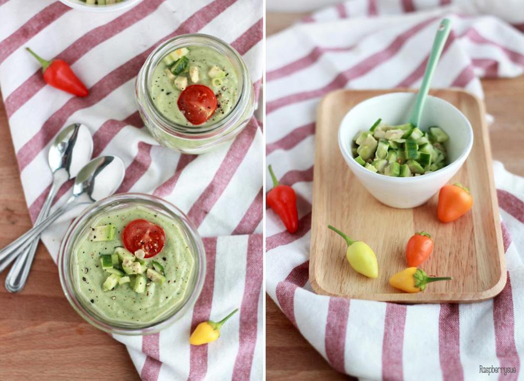 Avocado-Gazpacho | Rezept beim #SuperfoodSamstag bei feiertäglich von Raspberrysue