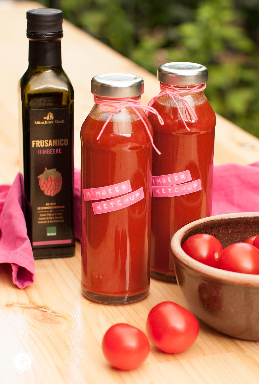 Fruchtigen Himbeerketchup selbstgemacht | Rezept von #feiertäglich