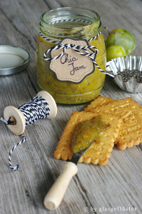 """Rezept für Chia Marmelade mit Renekloden und Mirabellen zum #Superfoodsamstag auf feiertaeglich von """"Glasgeflüster"""" #chiajam #renekloden #chia"""