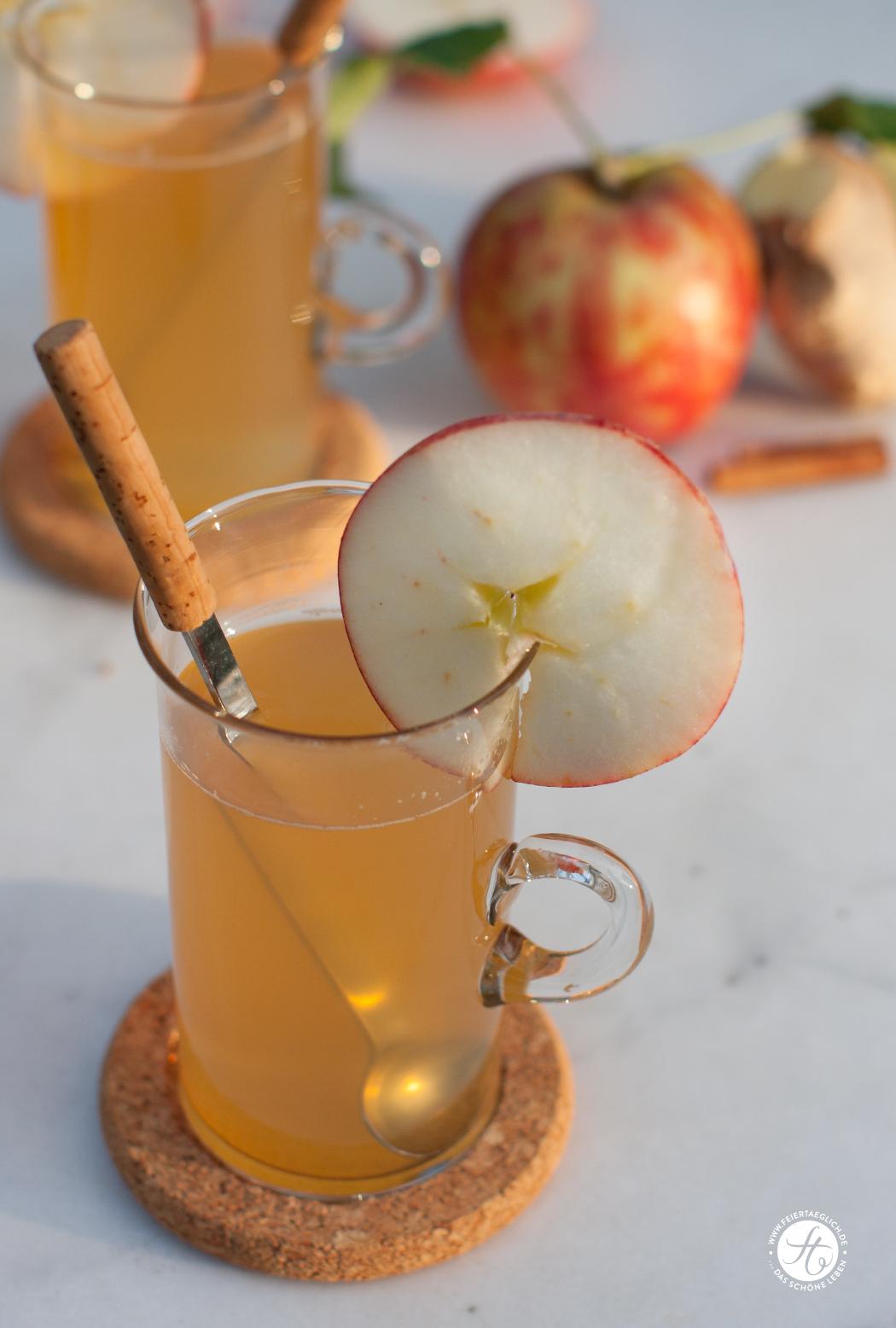 #SuperfoodSamstag mit einem Rezept für Ingwer-Apfel-Zimt Tee von feiertaeglich.de
