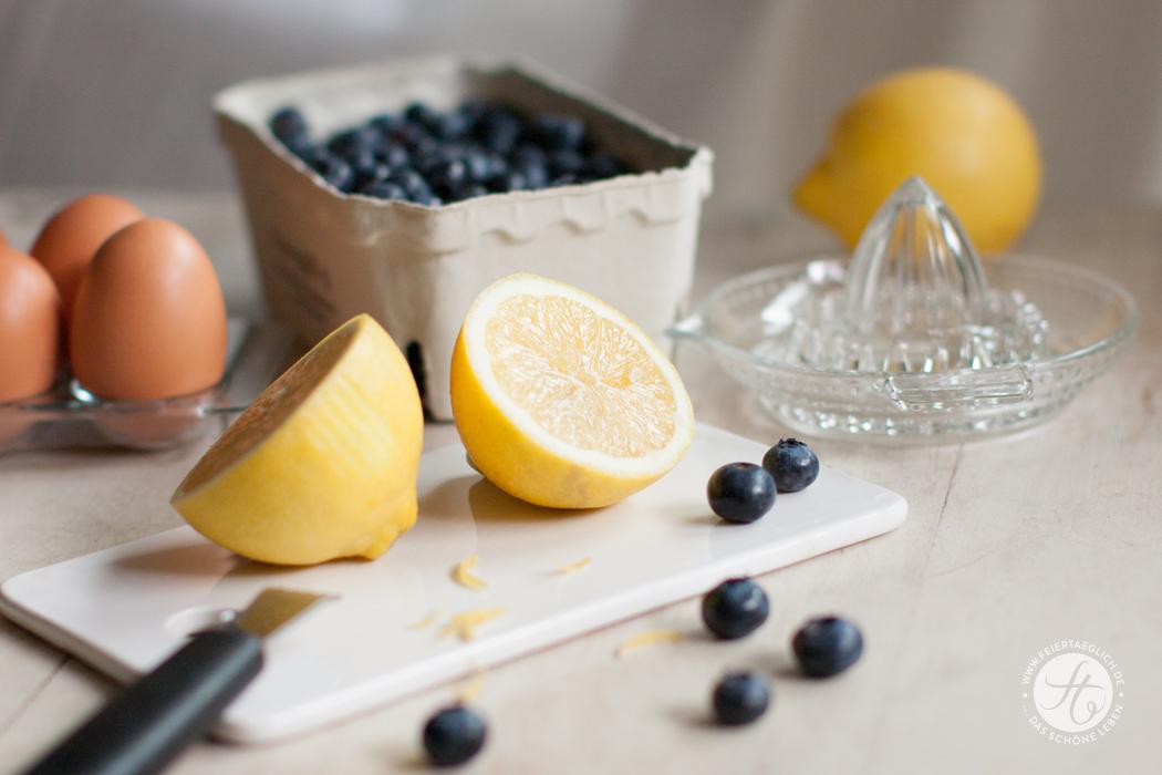 Rezept für Blaubeer-Zitronen-Käsekuchen von feiertaeglich.de