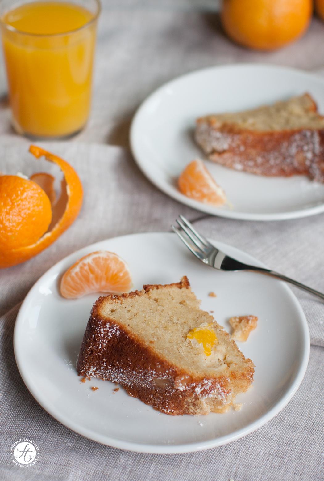 Rezept Mandarinen-Mandel-Gugel, einfach & saftig