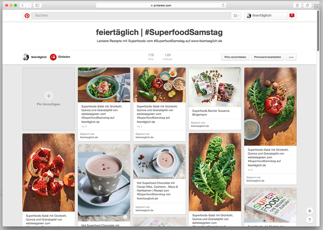 #SuperfoodSamstag auf Pinterest