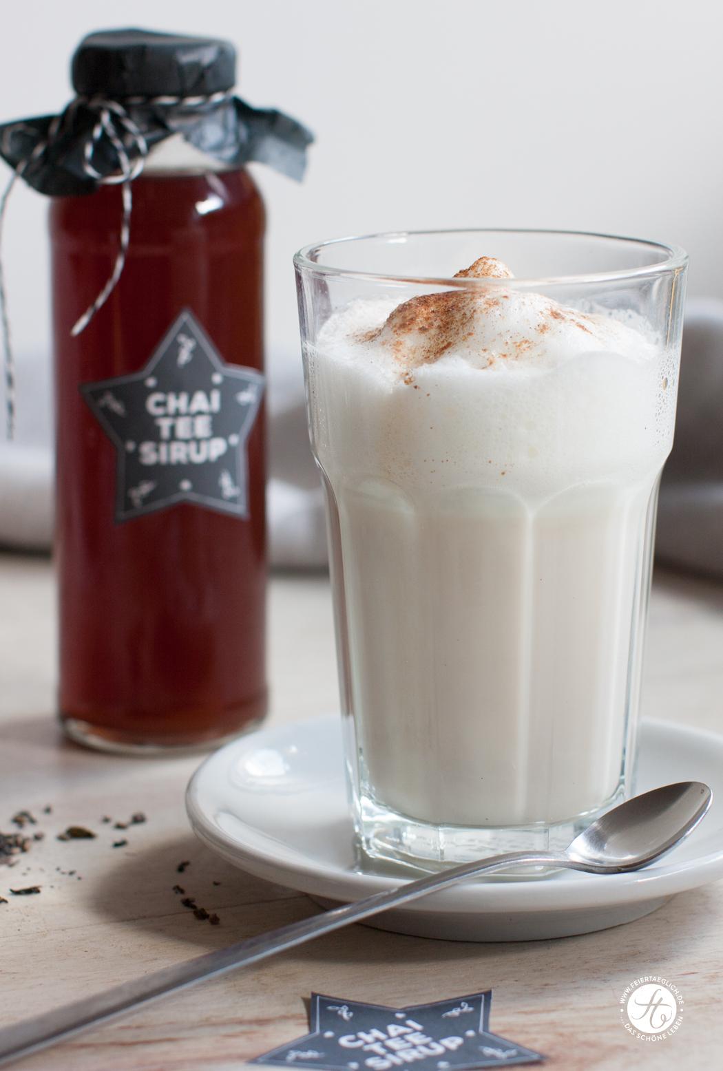 Geschenke Aus Der Küche Chai Tee Sirup Und Alle Labels Als Free