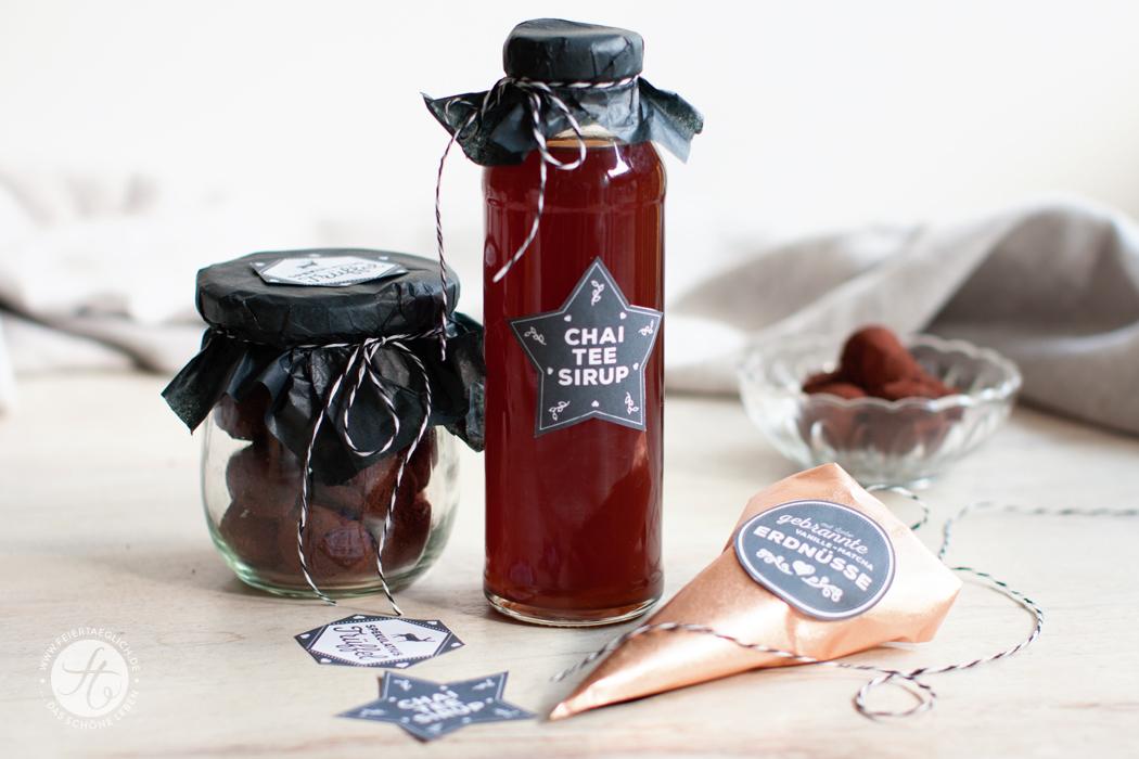 Geschenke aus der Küche: Gebrannte Vanille-Matcha Erdnüsse, Chai-Tee Sirup, Spekulatius Trüffel