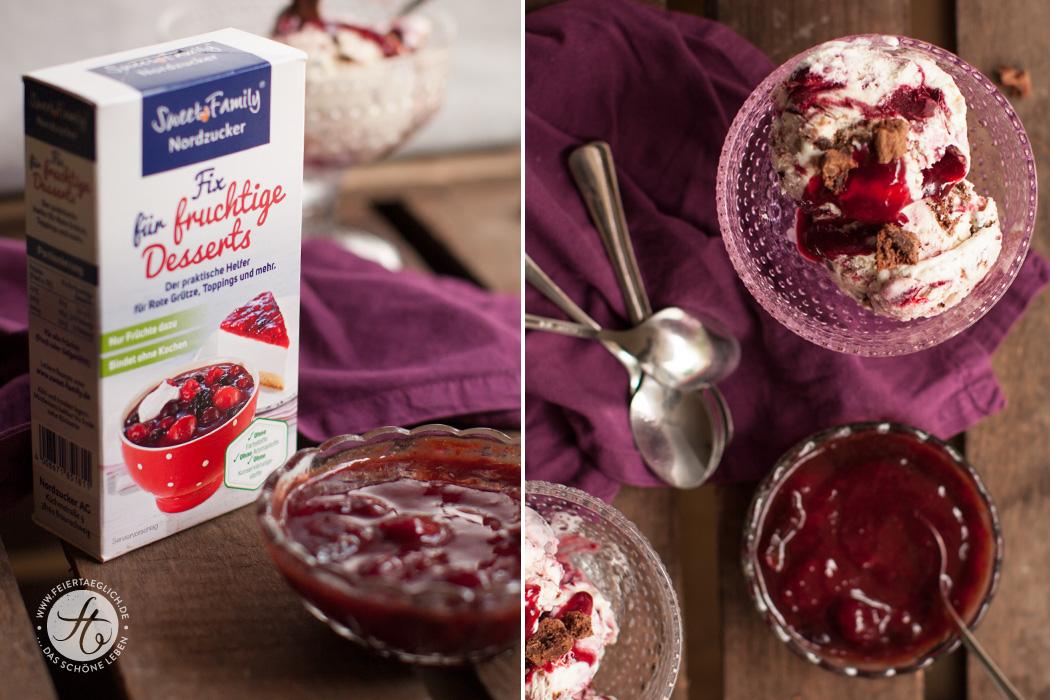 Schwarzwälder-Kirsch-Eis mit nur 5 Zutaten und ohne Eismaschine | Rezept von #Feiertäglich mit Fix für fruchtige Desserts von SweetFamily