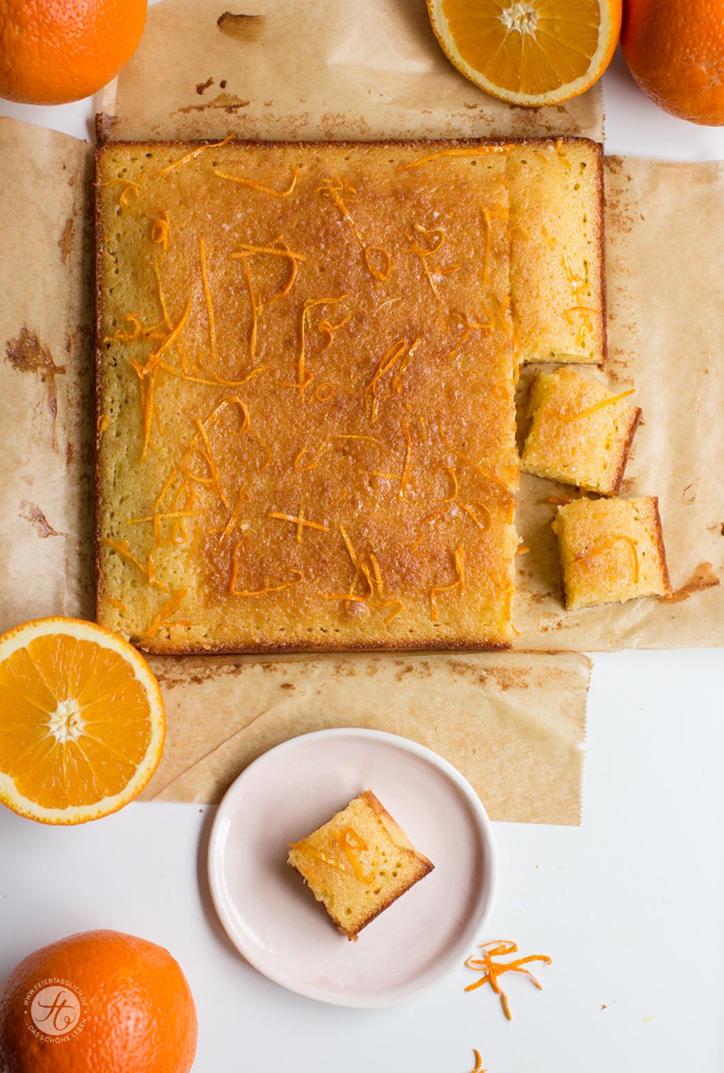 Fruchtige Orangen-Kardamom-Squares von feiertäglich