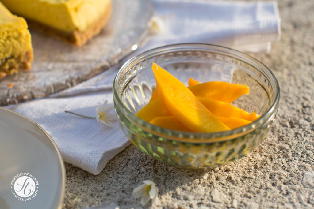 frische Mango in Spalten