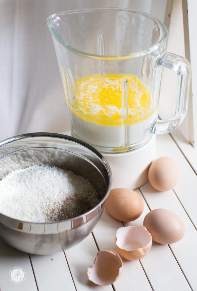 Impossible Himbeer-Kokos-Zitronen Pie – ein 3-Fach unglaubliches Rezept von feiertäglich.de | Zutaten