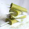 Green Matcha (n)ice-Pops, Popsicles ohne schlechtes Gewissen / Rezept von feiertaeglich.de, #Smoothiemontag