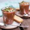Schnelle Gazpacho, kalte Tomatensuppe, Rezept von feiertäglich.de