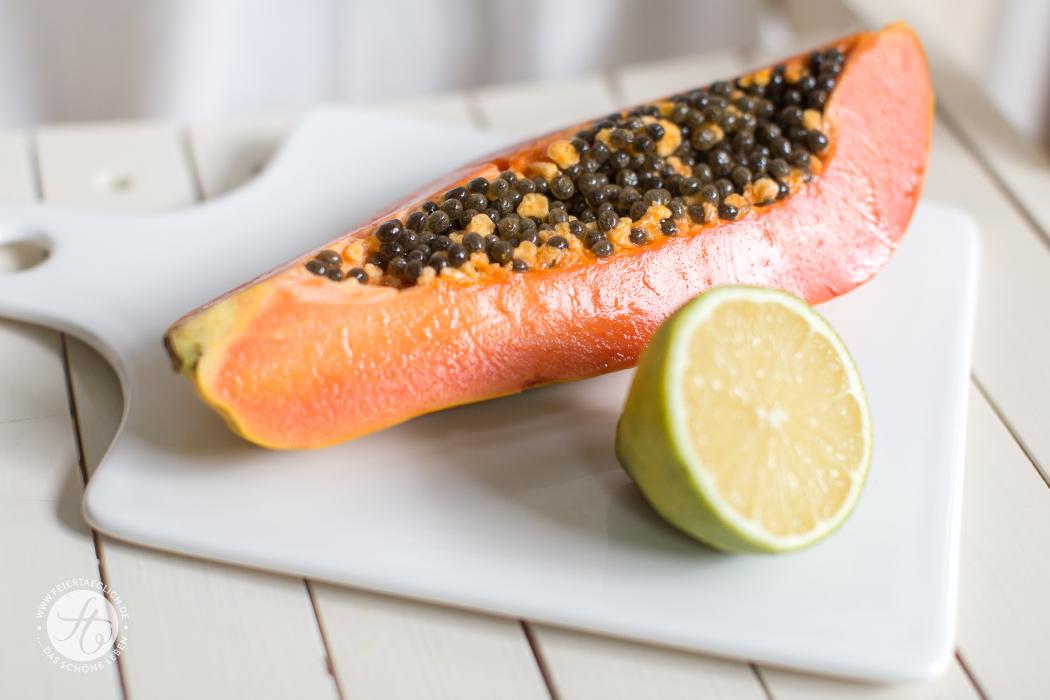 Papaya mit Limette