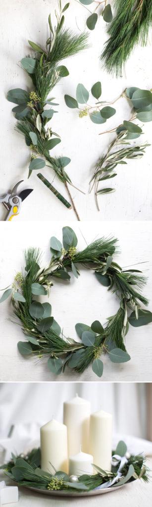 Adventskranz, simpel und pur, DIY Kranz binden
