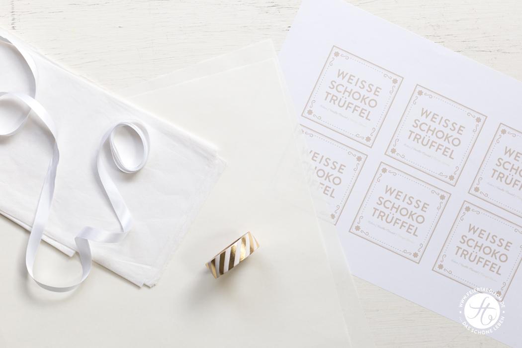 Verpackung für Geschenke aus der Küche