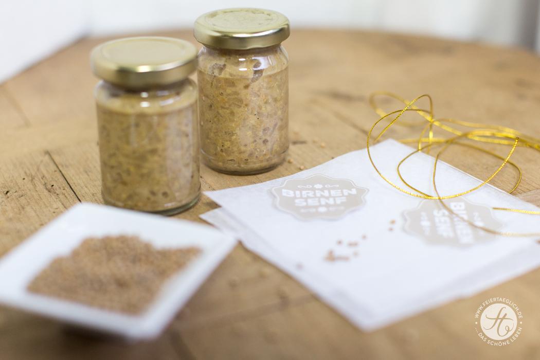Geschenke aus der Küche: Birnensenf, scharf & süß, Freebie Printable Labels, Rezept
