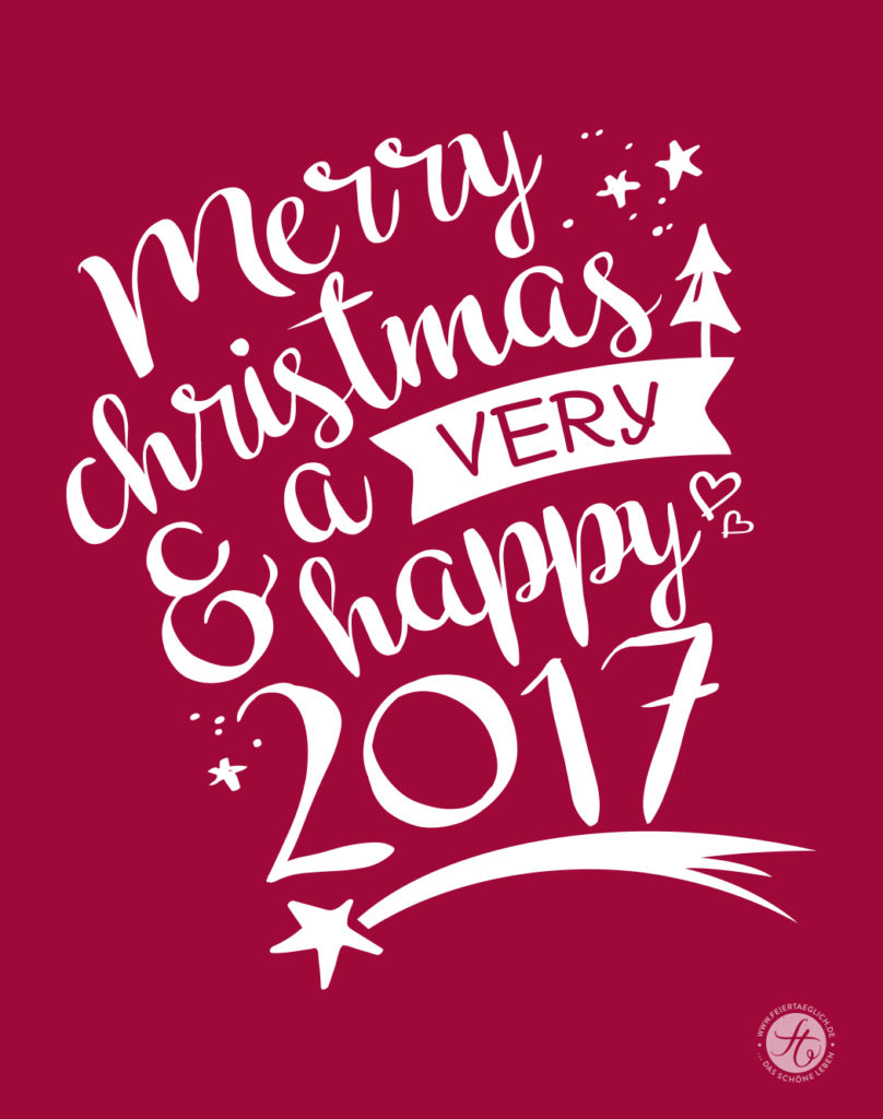 Merry Christmas and a very happy 2017