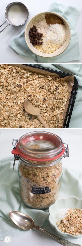 Kokos-Granola – selbst gemachtes Knuspermüsli