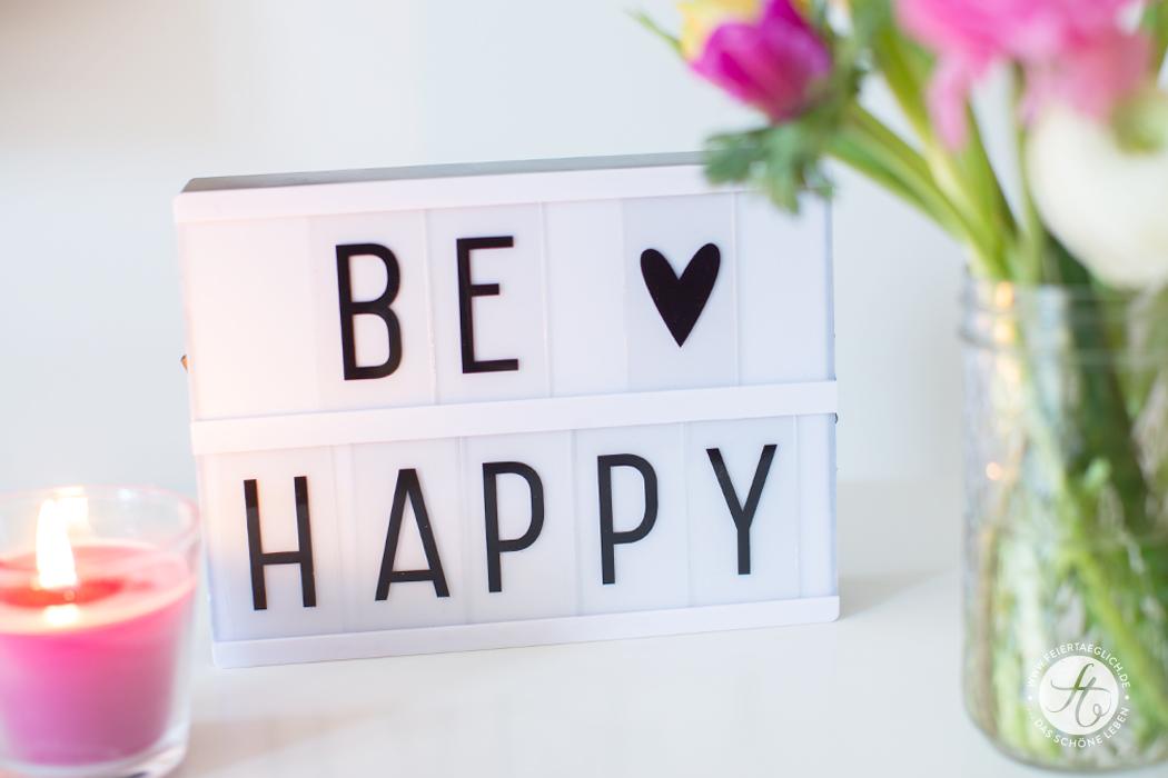 Lightbox, Mein BE•HAPPY•EXPERIMENT – täglich glücklicher werden – 4 Vorsätze & 4 Wochen