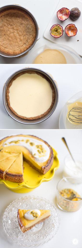 Rezept: Maracuja-Joghurt-Tarte mit Knusperboden und griechischem Joghurt, ein zart fruchtiges Träumen, Passionfruit-yoghurt-Tarte