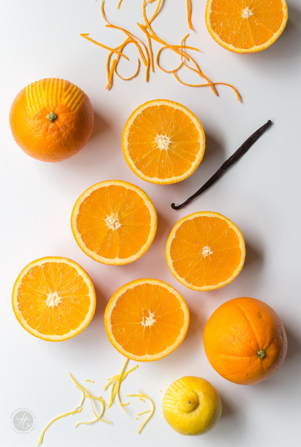 Orangen, Zitronen und Vanilleschote, Zubereitung Orangen-Vanille Marmelade