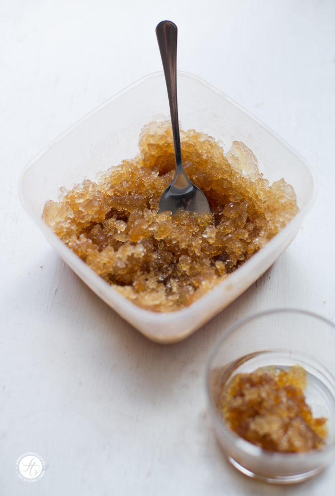 Rezept für Kaffee-Granite mit Vanille-Milchschaum