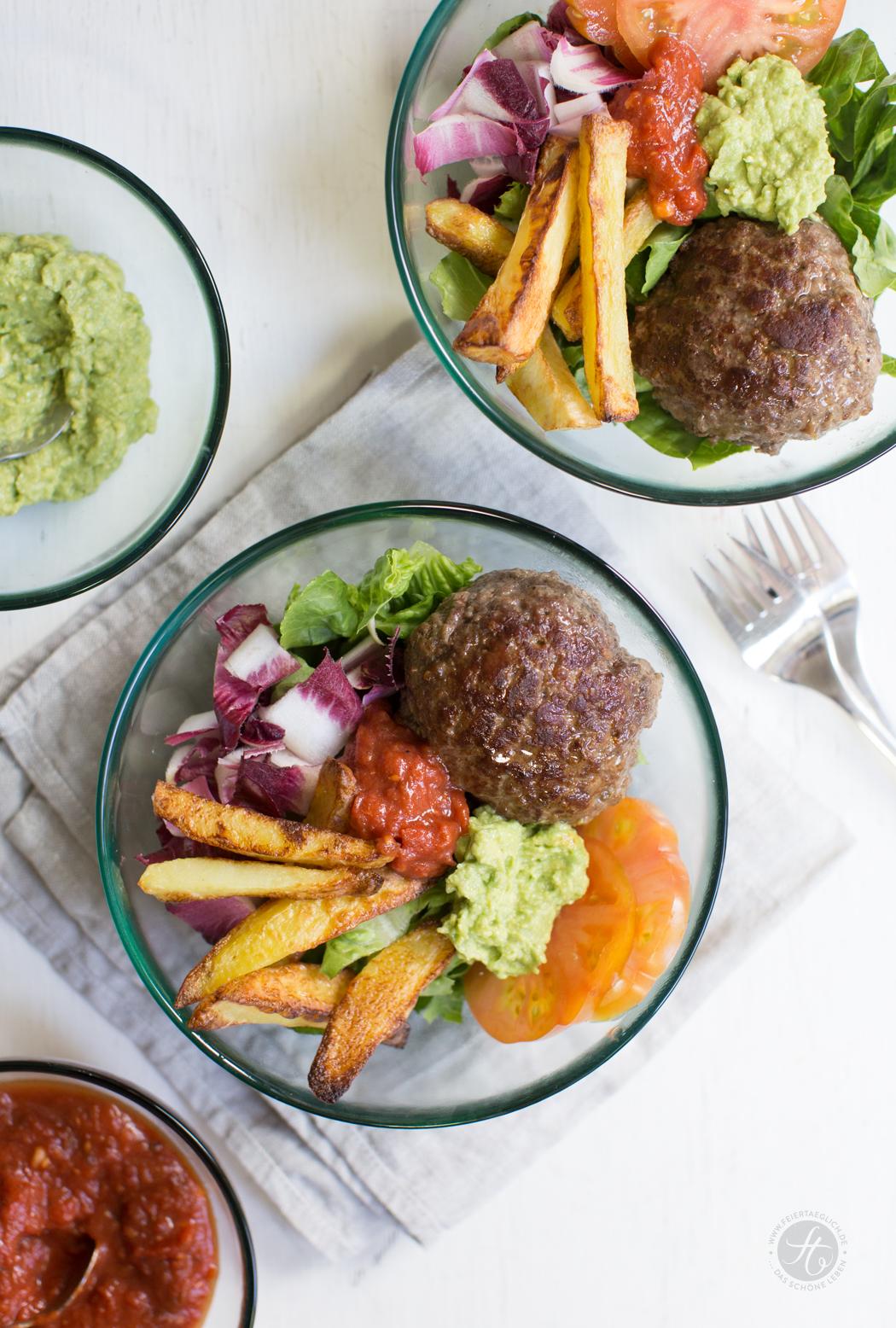 Burger-Bowl, soul food in low carb