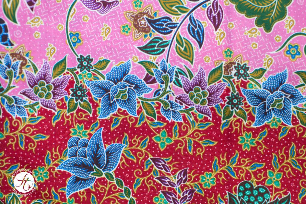 Blumenstoff, thailändischer Stoff, Stoffentdecker
