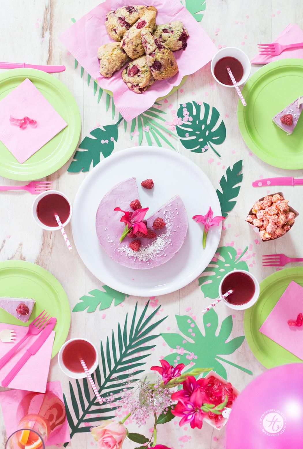 HappyMottoparty Flamingo, Tischdekoration, Rezepte