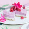 Raw Raspberry Cashew Cheesecake (vegan, glutenfrei, zuckerfrei), Rezept zur Flamingo-Motto-Party #happymottoparty