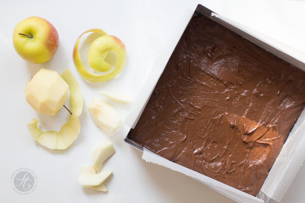 Schoko-Chai-Apfelkuchen, einfaches & schnelles Rezept, Zubereitung, Step by Step