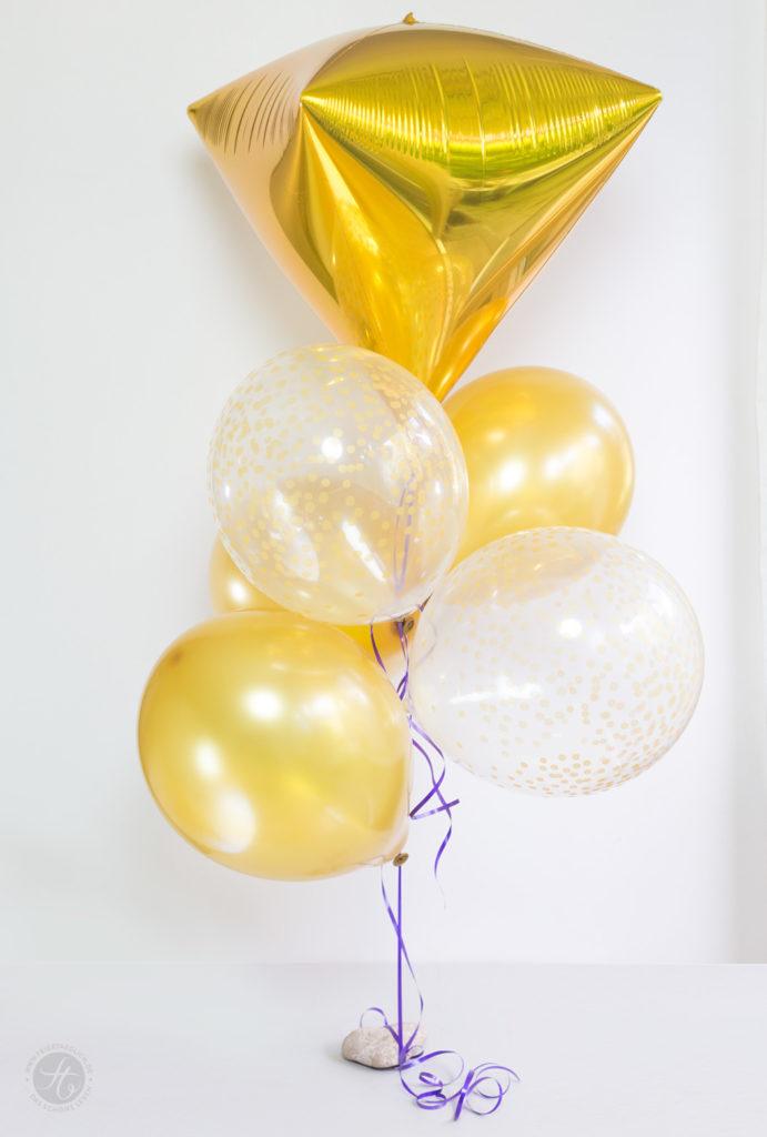 Goldene Ballons zur Goldener-Herbst-Party #happymottoparty