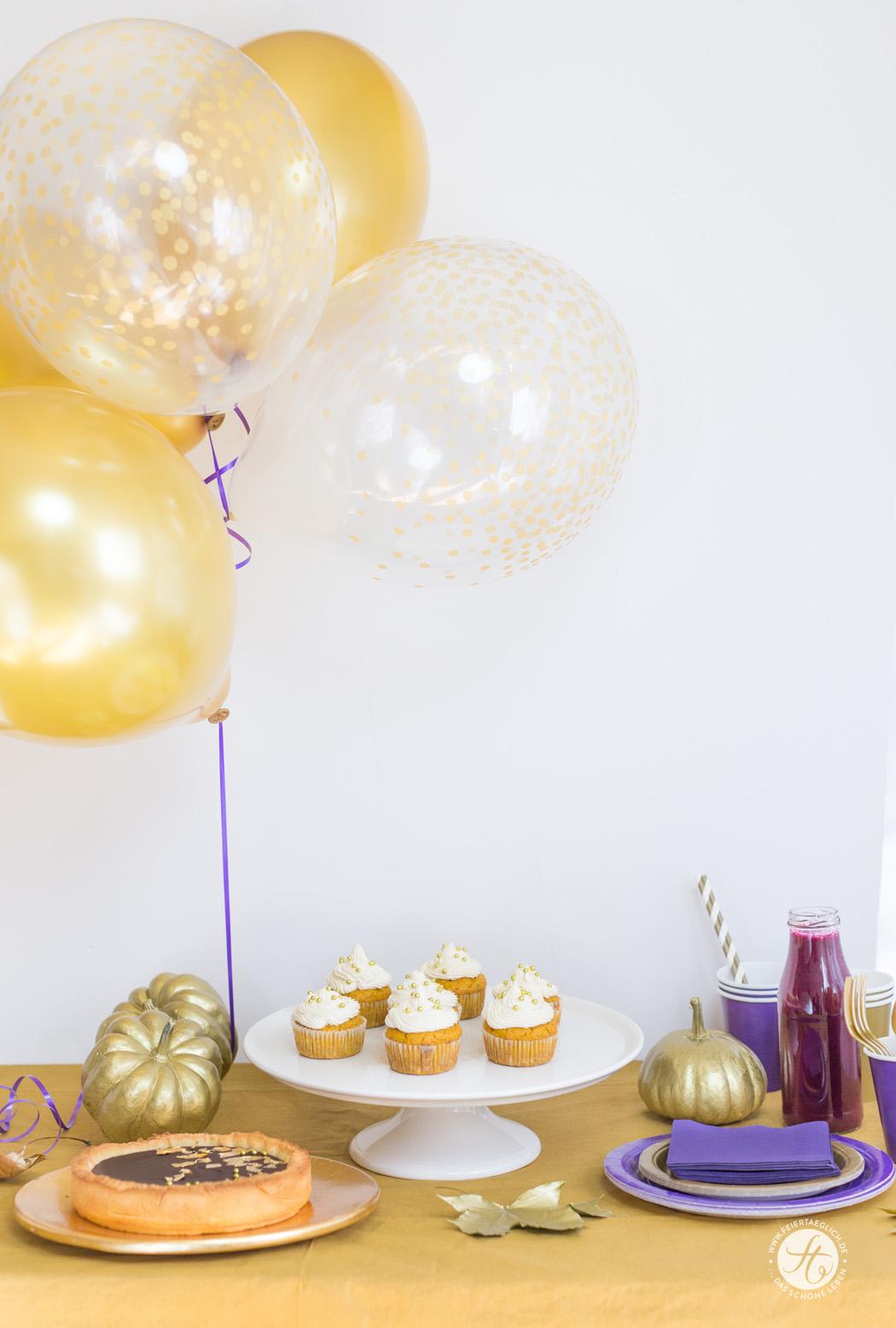 Goldener-Herbst-Party mit Deko, Rezepten, Blogparade und Party-Pakete zu gewinnen. #happymottoparty