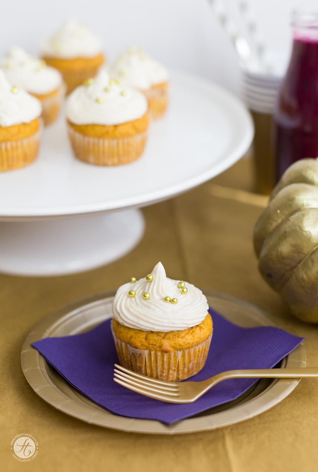 KürbisCupcakes mit Maple-Creamcheese-Frosting