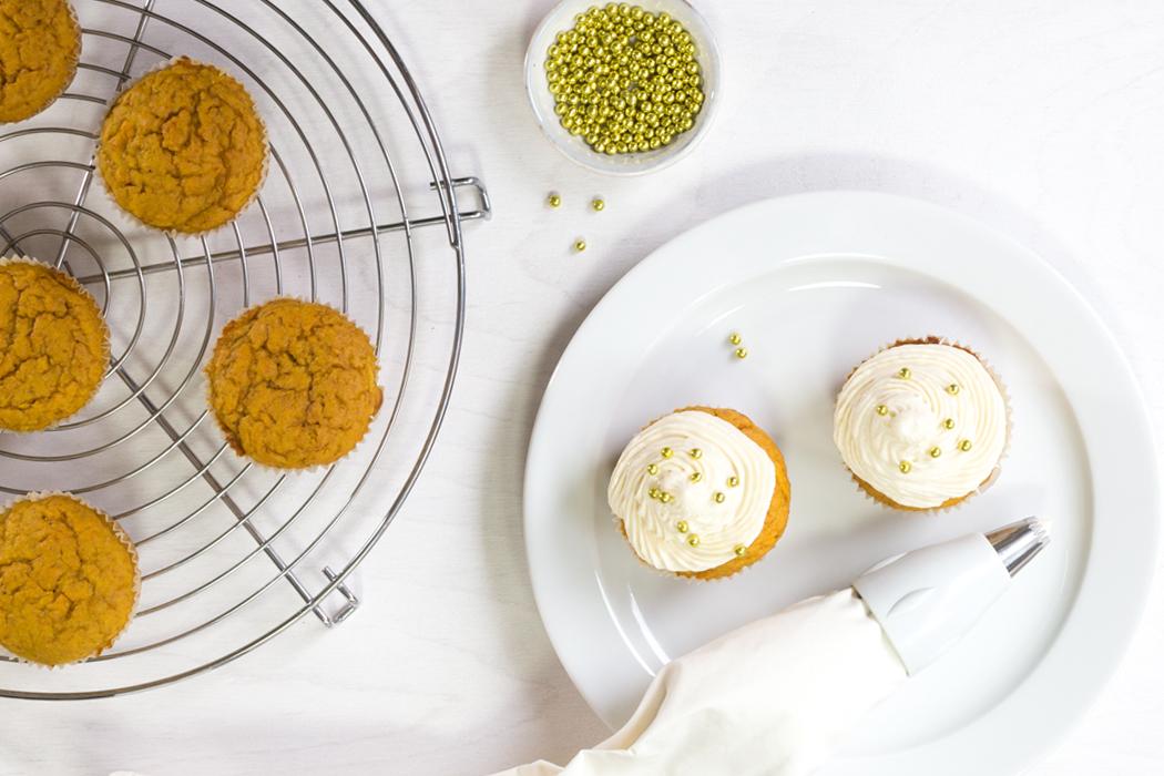 KürbisCupcakes mit Maple-Creamcheese-Frosting, Zubereitung