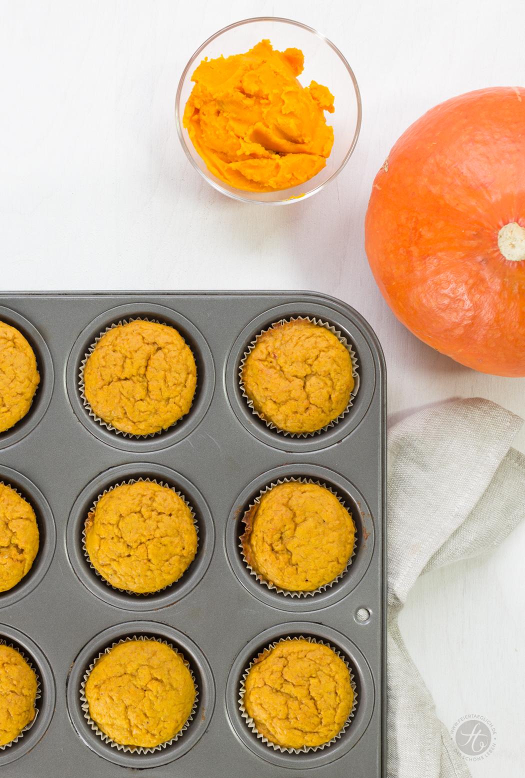 Kürbis Muffins, einfaches Rezept
