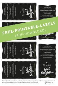 Free-printable-Labels zum Ausdrucken für Solid Bodylotion