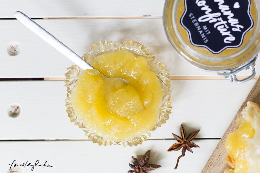 Geschenke aus der Küche: Ananas-Konfitüre mit Sternanis & Free-printable-Labels zum Ausdrucken
