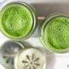 Grüne Energie Smoothie, Rezept für grünen Smoothie mit Grünkohl, Ananas, Apfel, Sellerie und Matcha