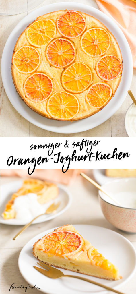 Upside-Down Orangen-Joghurt Kuchen, einfaches Rezept, Rührteig