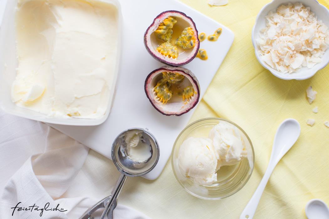 Cremiges Maracuja-Joghurt-Eis, Rezept mit nur 5 Zutaten