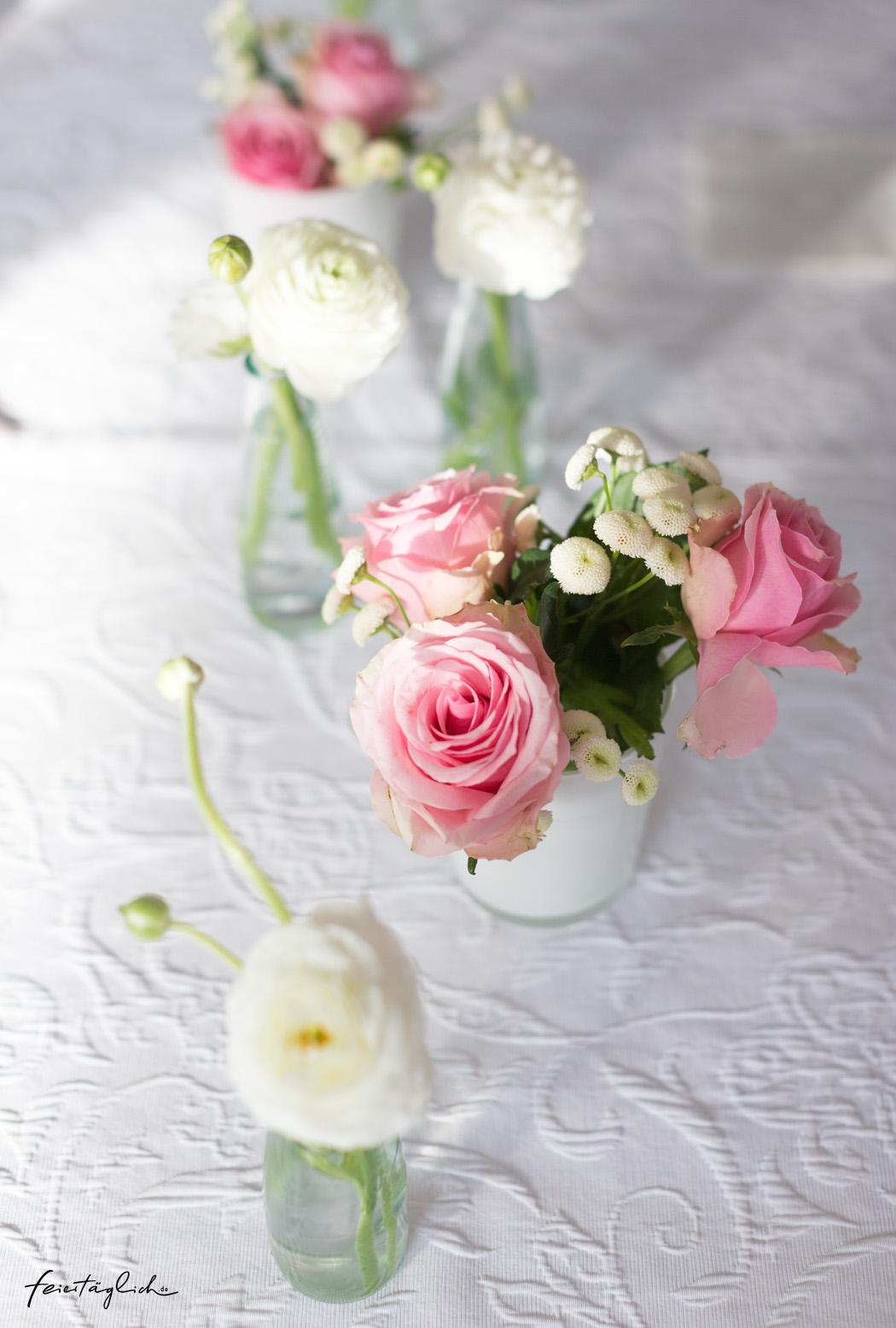 Rosen Ranunkeln Tischdeko