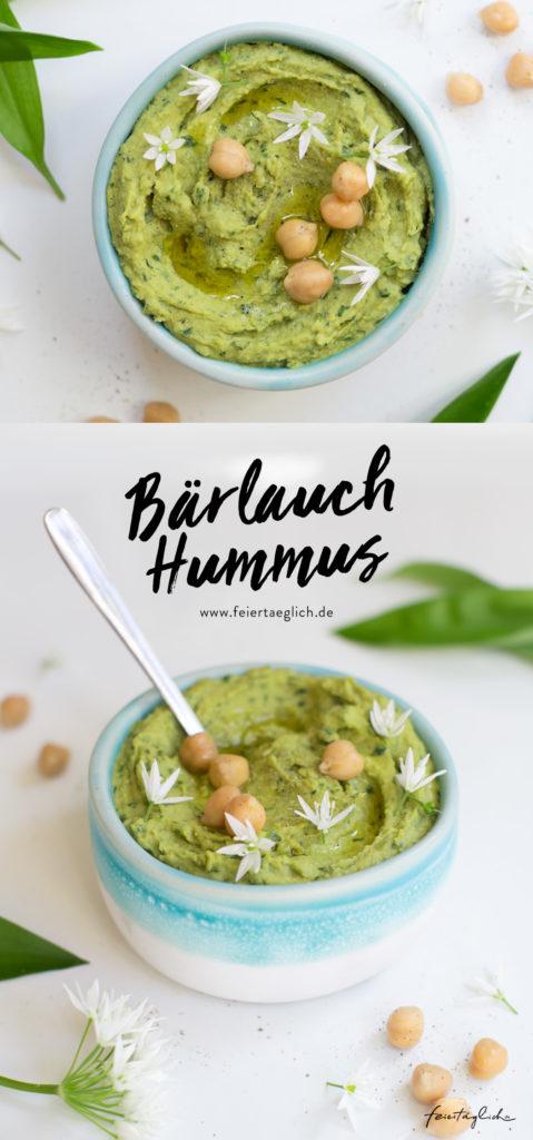 Bärlauch-Humus Rezept, zum Grillen, als Dip zu Gemüse oder einfach so aufs Brot