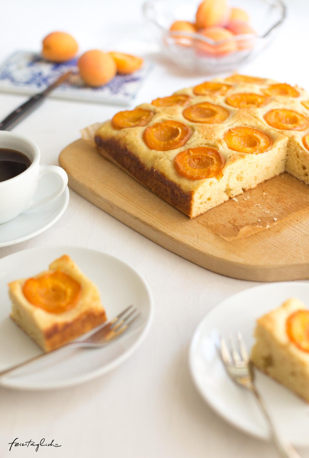 Saftiger Aprikosenkuchen mit Ricotta im schnellen Rührteig, #rührkuchen #kuchen #aprikosenkuchen