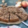 Apfel-Walnuss-Kuchen – gesünder Backen, Rezept für einen schnellen und leckeren Rührteig mit Äpfeln und Walnüssen
