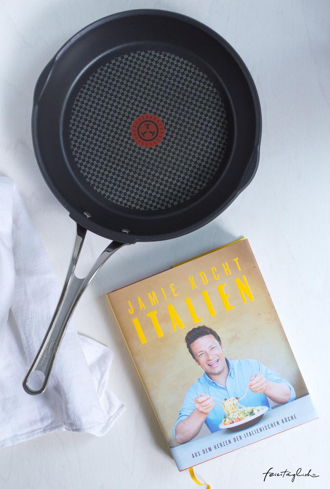 Jamie Oliver´s neues Buch Italien und Pfanne von Tefal zu gewinnen
