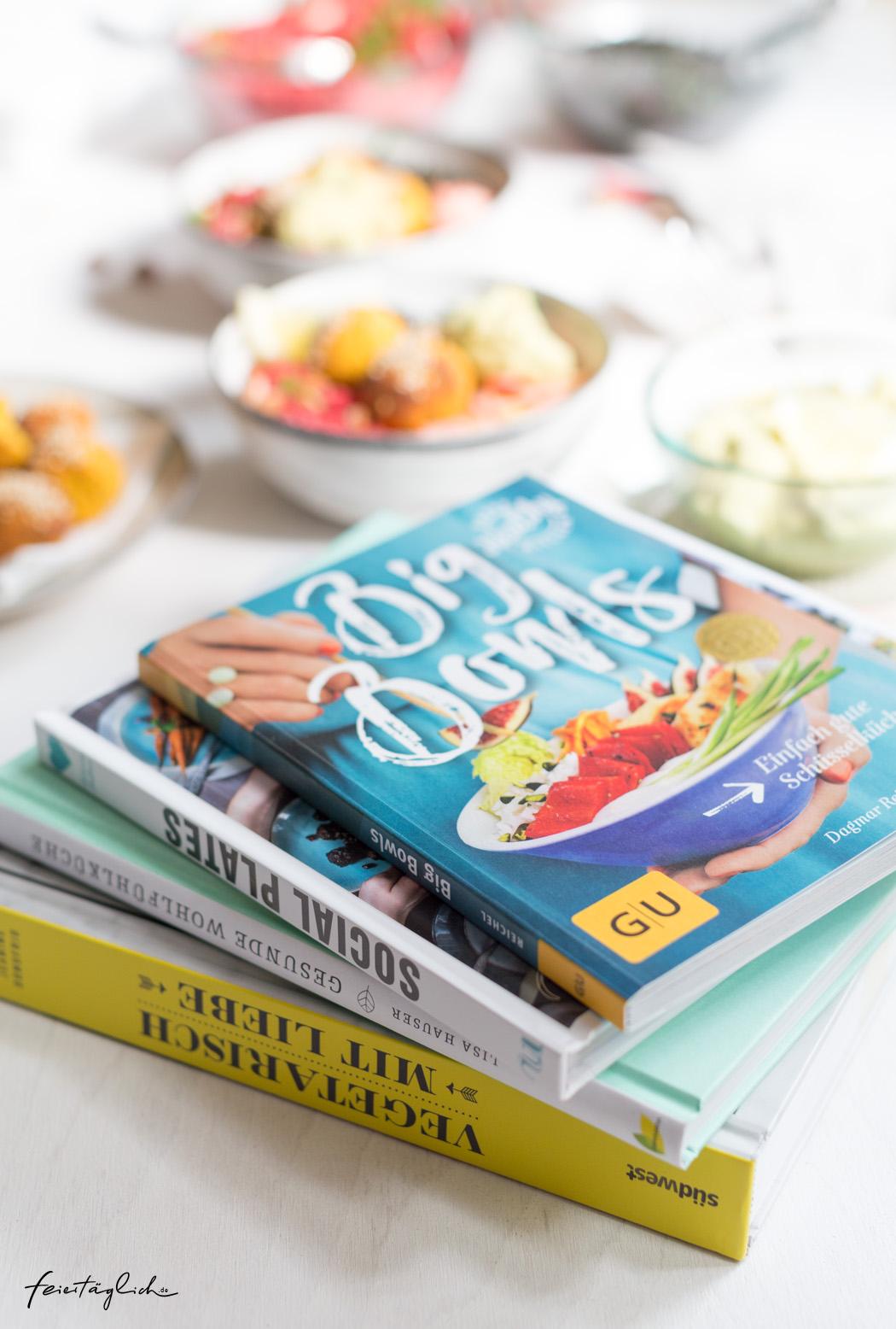 Gut, gesund, glücklich Essen – 4 Kochbuchtips (1 davon zu gewinnen) und Rezept für eine Rainbow-Buddha-Bowl