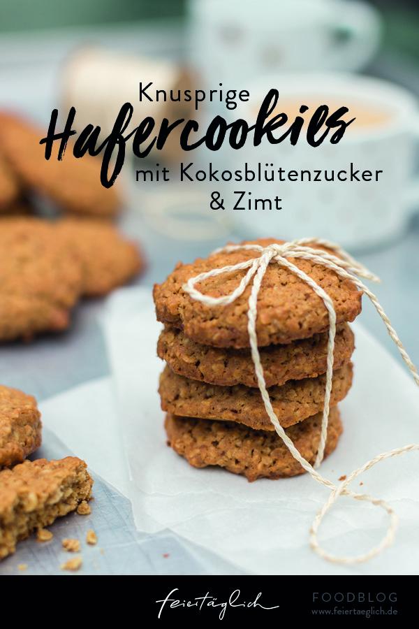 Knusprige Hafercookies mit Kokosblütenzucker und Zimt...die sind immer eine gute Idee, Rezept, #Cookies #Kekse #Weihnachtsbäckerei #GeschenkeausderKüche