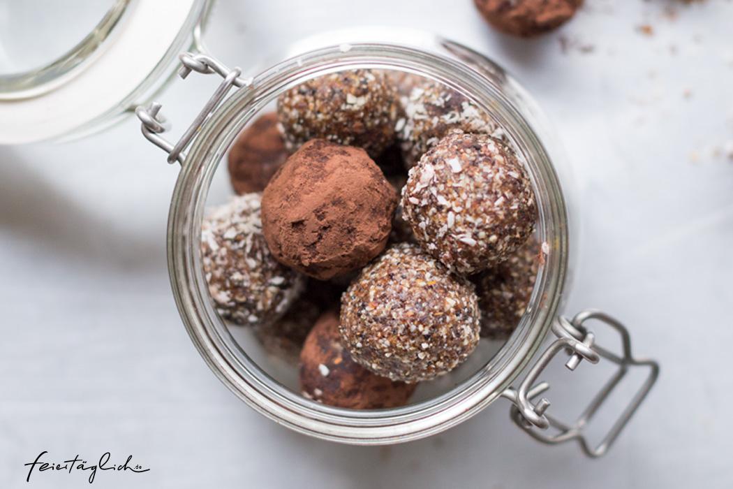 Energy-Balls für stillende Mütter, Rezept, i-Prep & Cook Gourmet, ergänzendes Zubehör: Minischüssel
