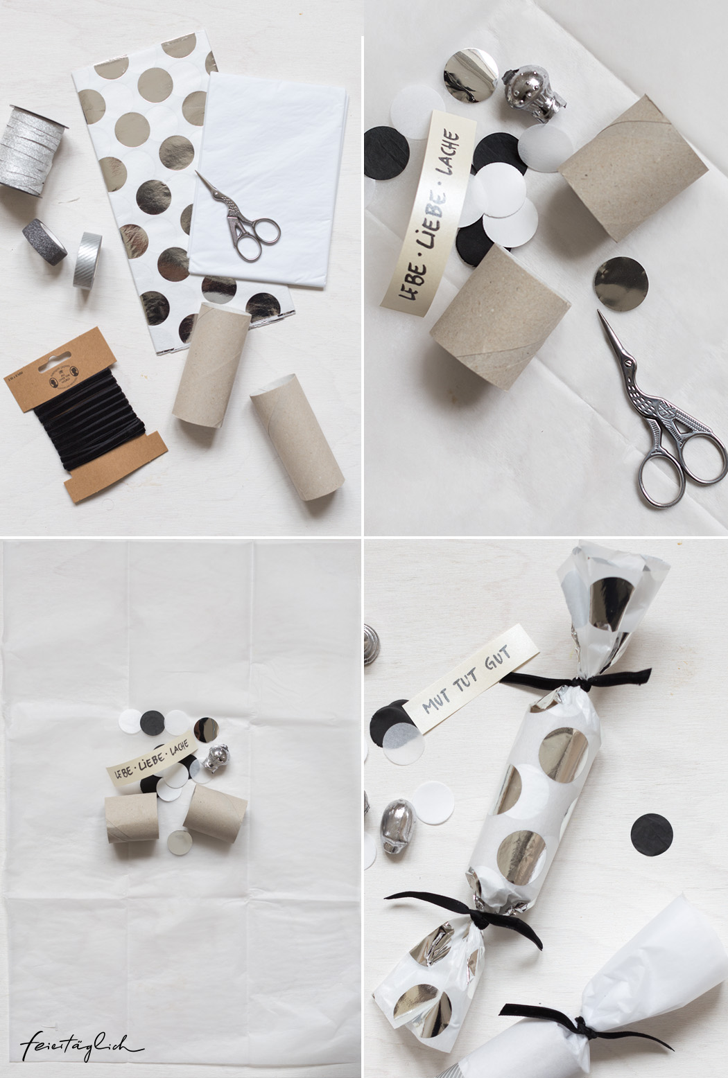 DIY Knallbonbons für Silvester